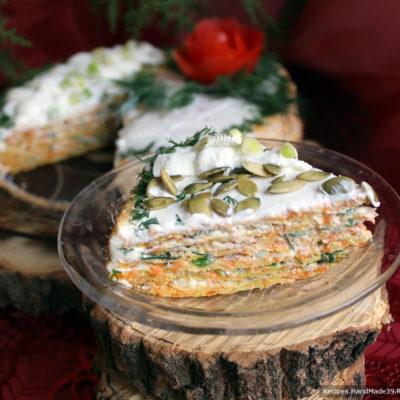 Закусочный торт из тыквы – пошаговый кулинарный рецепт с фото