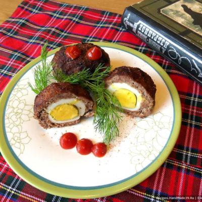 Яйца по-шотландски, поджаренные и запечённые в духовке – пошаговый рецепт с фото