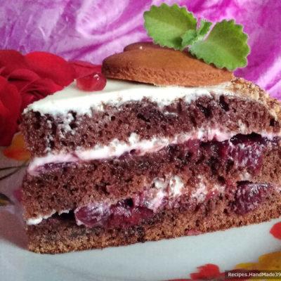 Торт «Вишня в шоколаде» – пошаговый кулинарный рецепт с фото