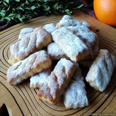 Медовое творожное печенье с апельсиновой цедрой и корицей