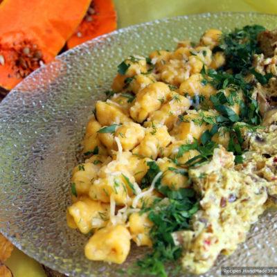 Картофельно-тыквенные ньокки с грибным соусом – пошаговый рецепт с фото