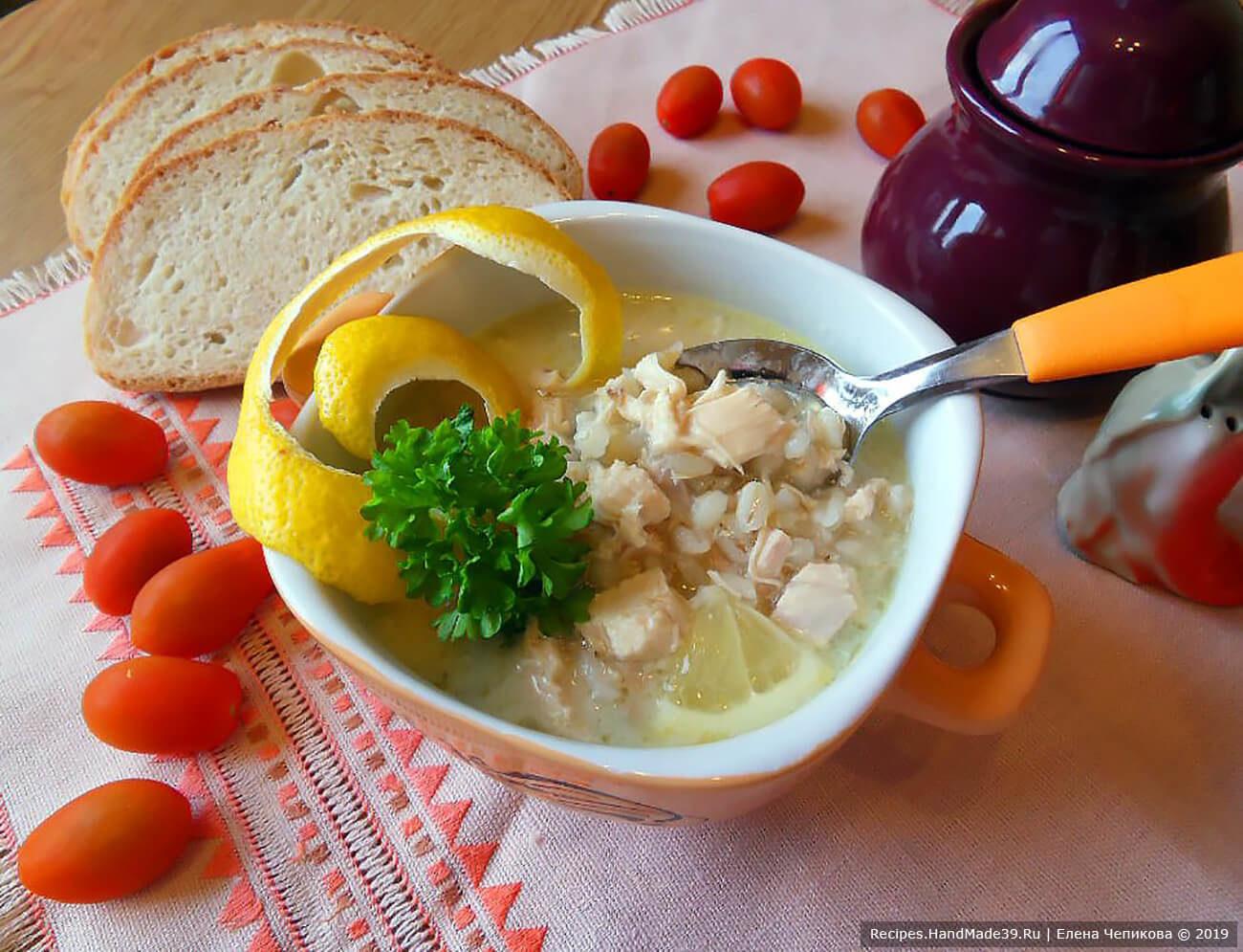 Таронский суп с курицей и перловкой