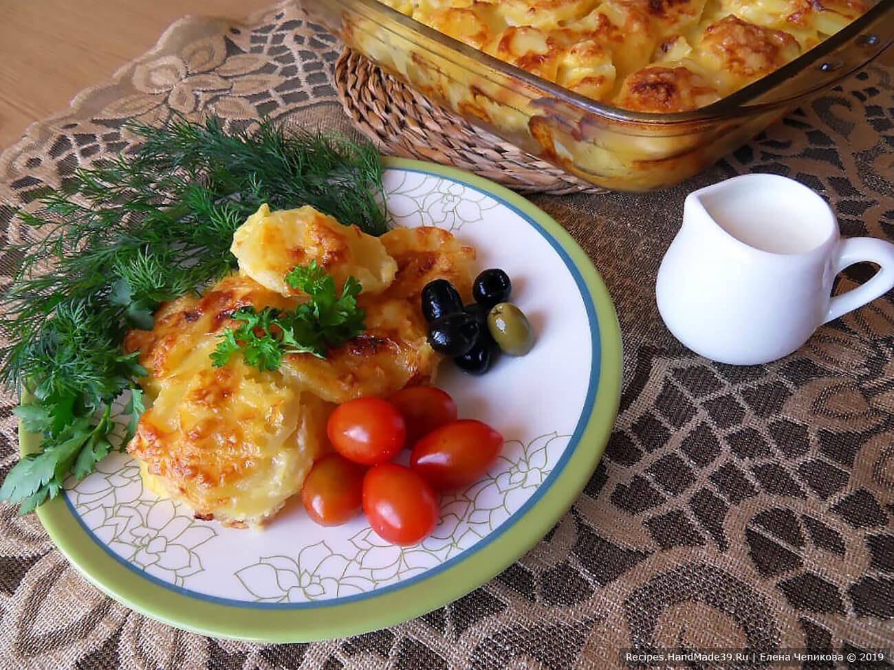 Картофель, запечённый в сливках по-итальянски
