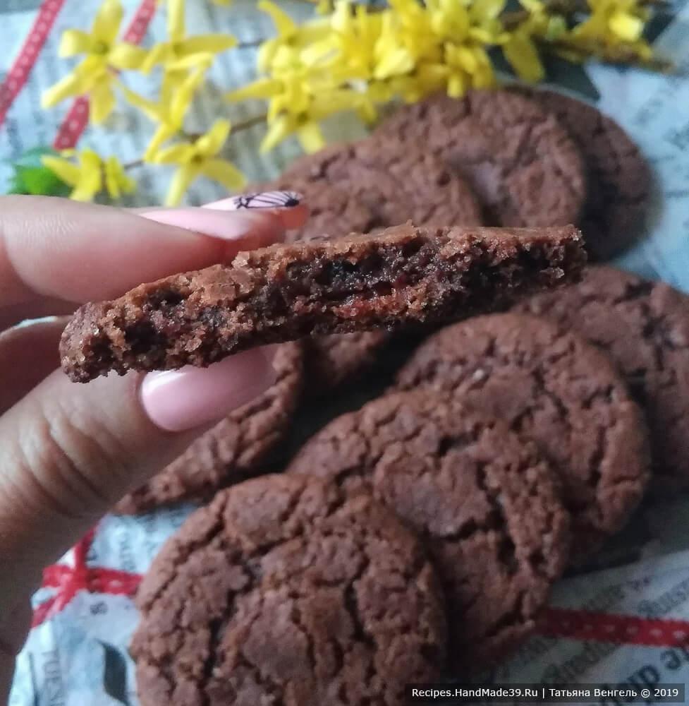 Шоколадное медовое печенье «Минутка»