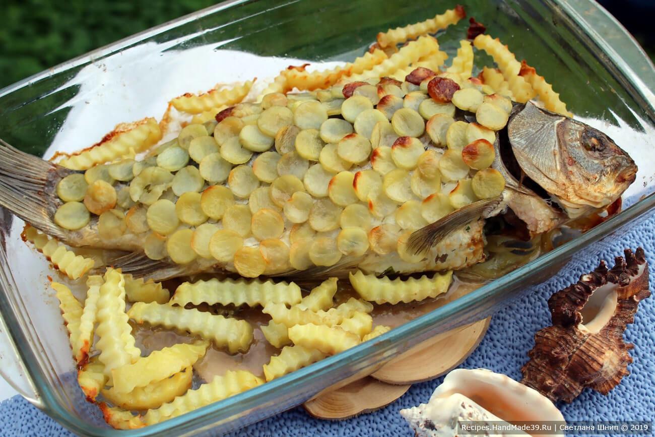 Фаршированная рыба в картофельной «чешуе»