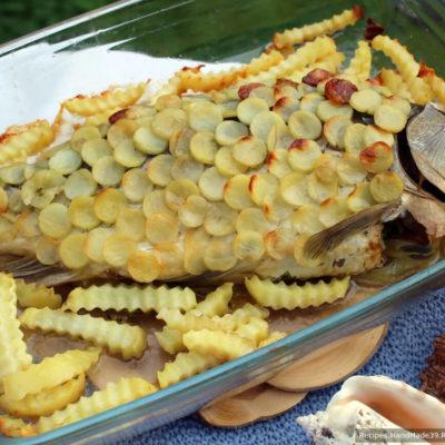 Рыба с луком в картофельной рубашке – пошаговый кулинарный рецепт с фото