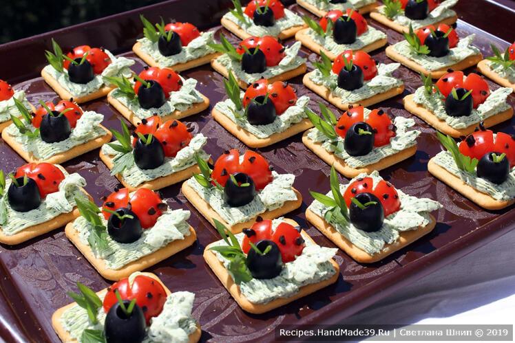 Красивые и вкусные закуски для фуршета – пошаговые рецепты с фото