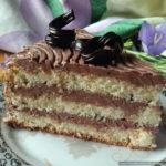 Торт «Трюфель» на польском «брошенном» бисквите с шоколадным кремом «Шарлотт»