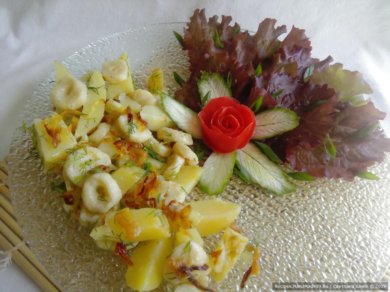 Галушки с картошкой и луком