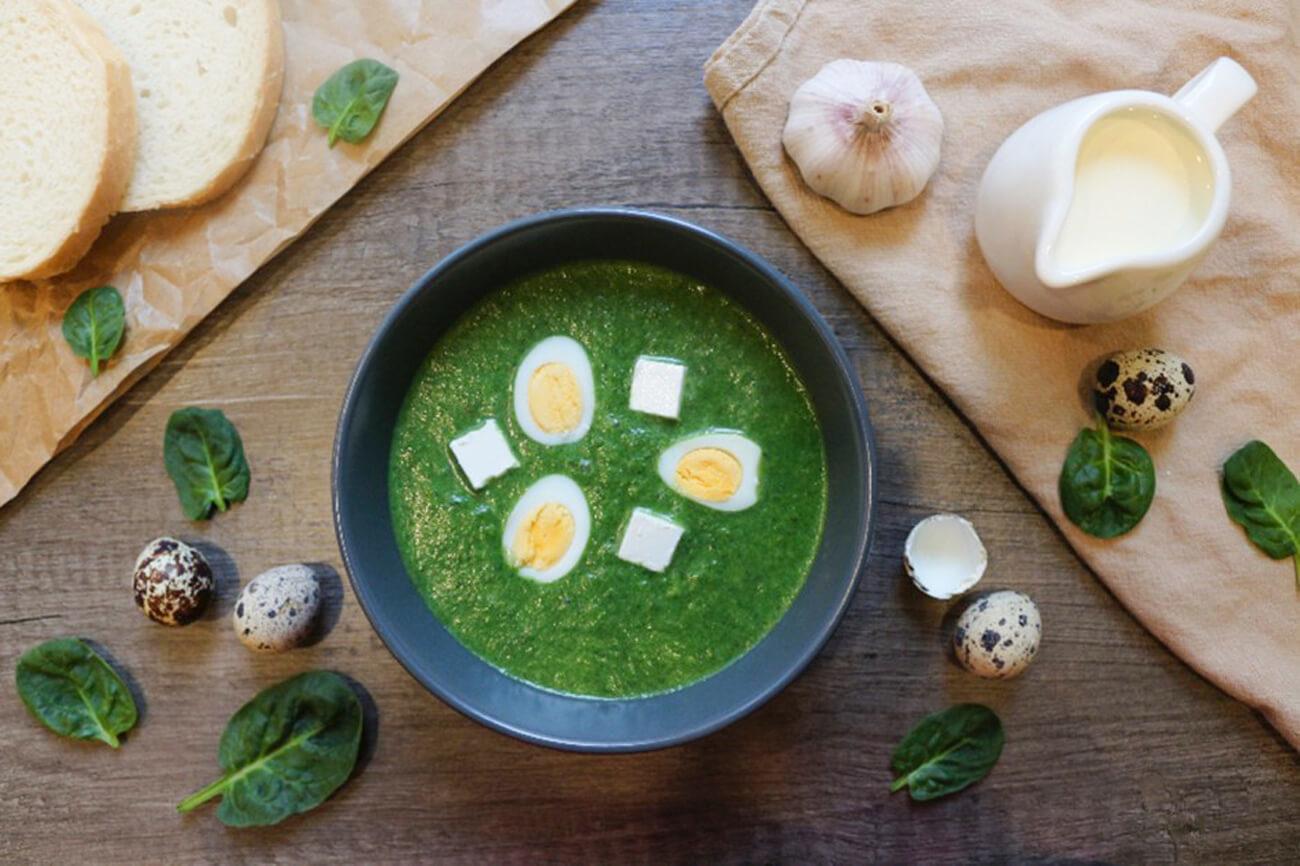 «Шечаманды» – грузинский суп со шпинатом