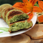 Несладкие сырники «Шрек» с зелёным луком, петрушкой и шпинатом