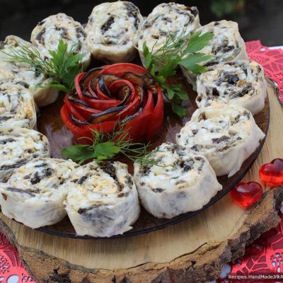 Рулет из лаваша с баклажанами – пошаговый кулинарный рецепт с фото