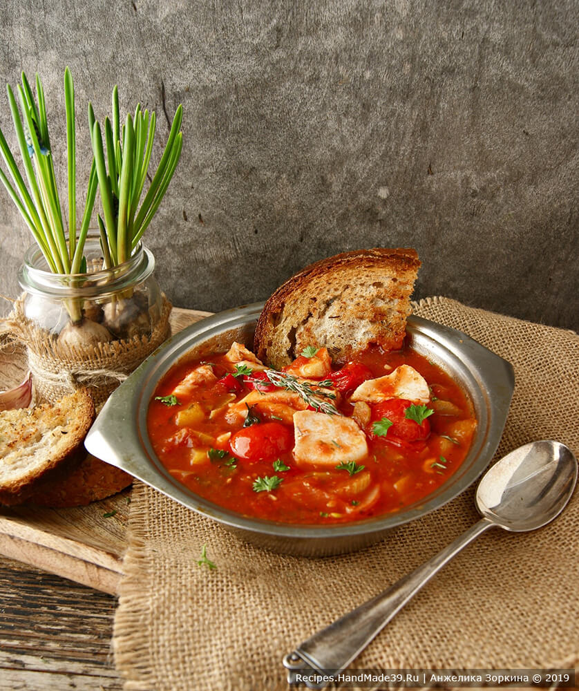 Томатный рыбный суп по-итальянски – пошаговый рецепт с фото