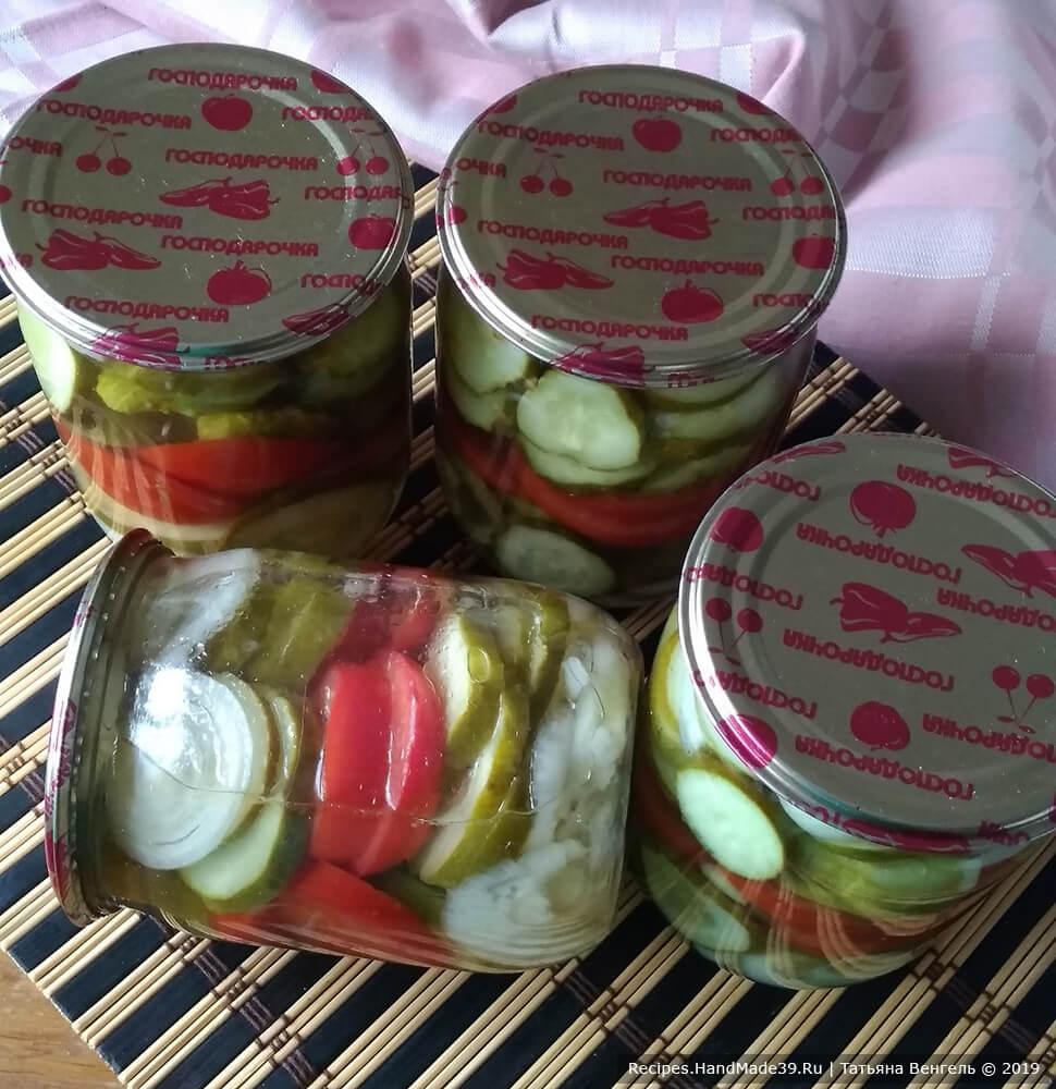 Экспресс-салат из огурцов и помидоров на зиму
