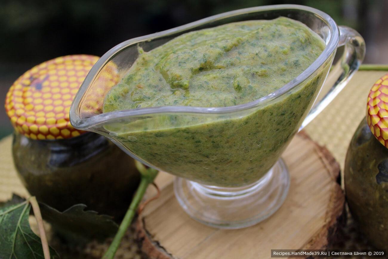 Соус ткемали из зелёной сливы (зелёный ткемали) – пошаговый рецепт с фото
