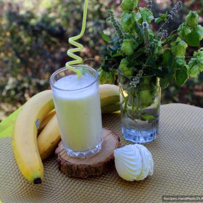Коктейль из кефира, зефира и банана – пошаговый кулинарный рецепт с фото
