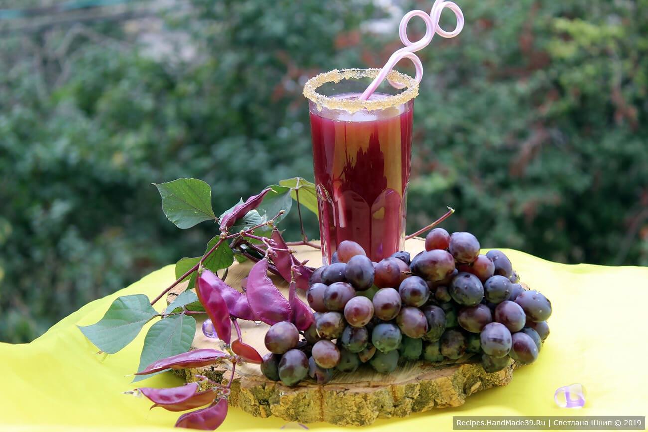 Виноградный кисель на крахмале