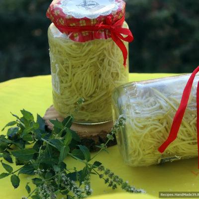 Лапша из кабачков на зиму – пошаговый кулинарный рецепт с фото
