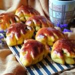 Сдобные булочки «Листочки» с тыквенно-яблочной начинкой