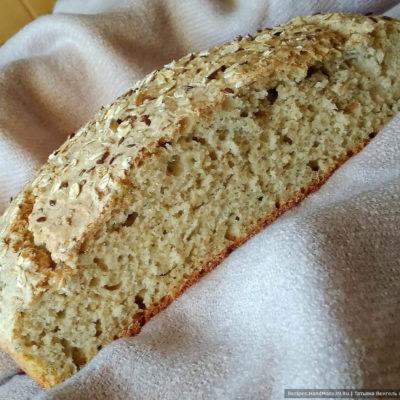 Финский овсяный хлеб без замеса