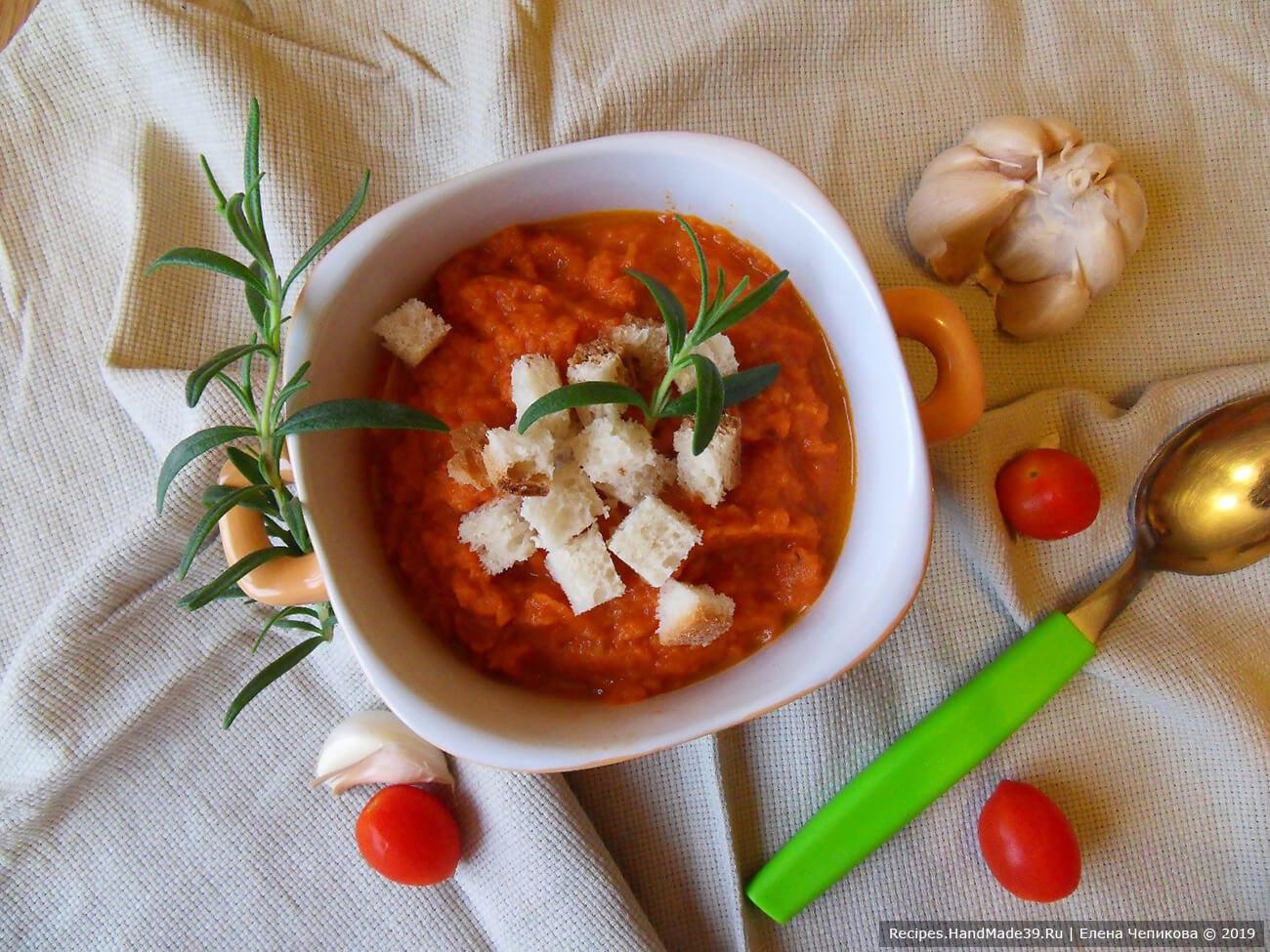 Томатный суп «Паппа аль помодоро»