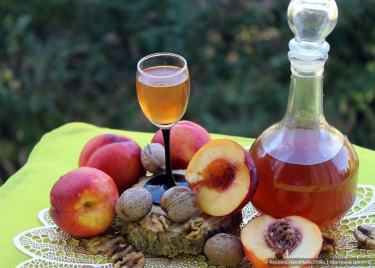 Персиковый ликёр – пошаговый кулинарный рецепт с фото