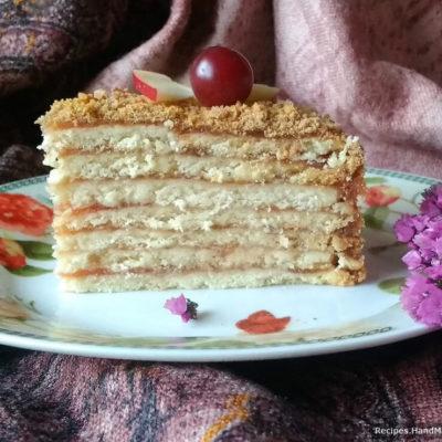Песочный торт с яблочным повидлом – пошаговый кулинарный рецепт с фото
