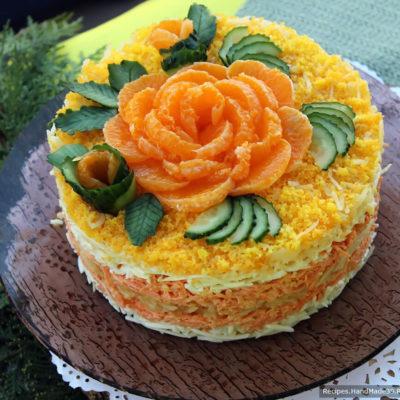 Салат «Французский» с морковью, яблоком и сыром