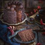 Шоколадный медовик с тремя вариантами шоколадного крема