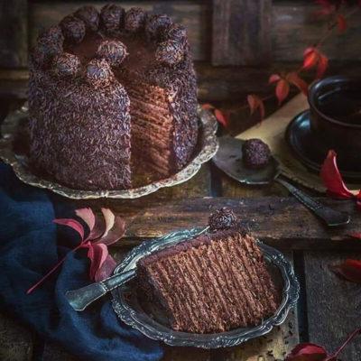 Шоколадный медовик – пошаговый кулинарный рецепт