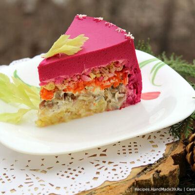 Селёдочный чизкейк – это новый вариант известного салата «Сельдь под шубой»