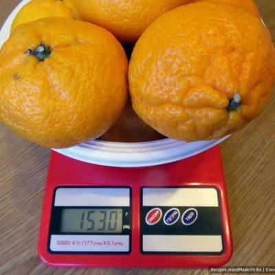 Для варки мандаринового варенья с орехами подготовьте все ингредиенты
