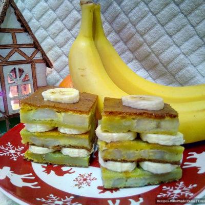 Шарлотка с бананами – пошаговый кулинарный рецепт с фото