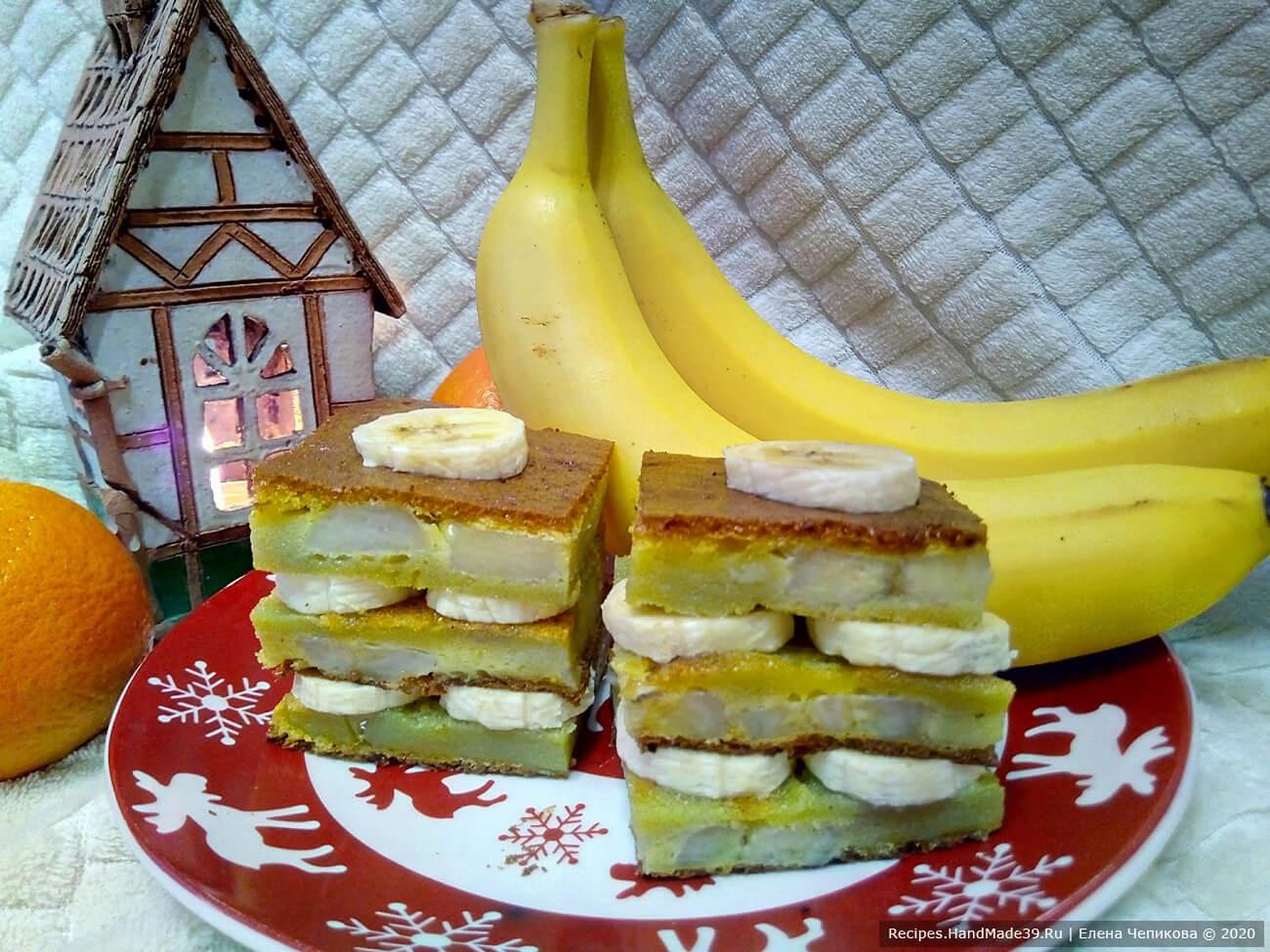 Банановая шарлотка