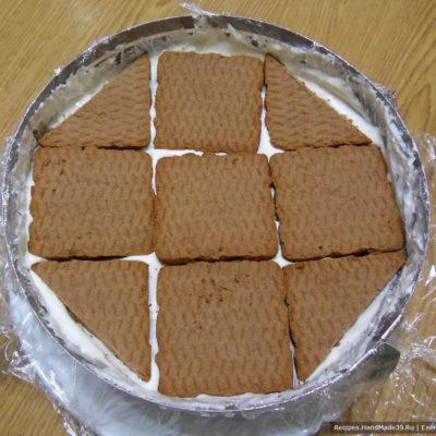 Если осталось печенье, можно сделать 1-2 горизонтальных ряда