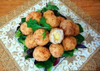 Хрустящие куриные шарики с сыром