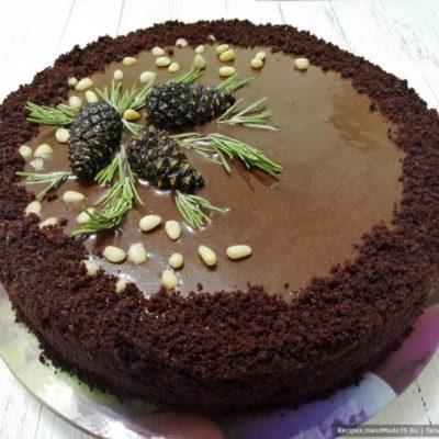 Бисквитный торт «Шоколадный бархат»