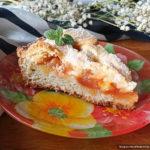 Творожный пирог с повидлом, апельсином и яблоком