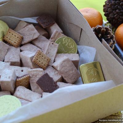 Домашний маршмеллоу с вишнёвым сиропом и какао