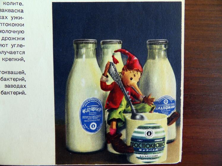 Молоко – кефир-простокваша – ацидофилин