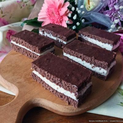 Детское шоколадное пирожное «Молочный ломтик Киндер»