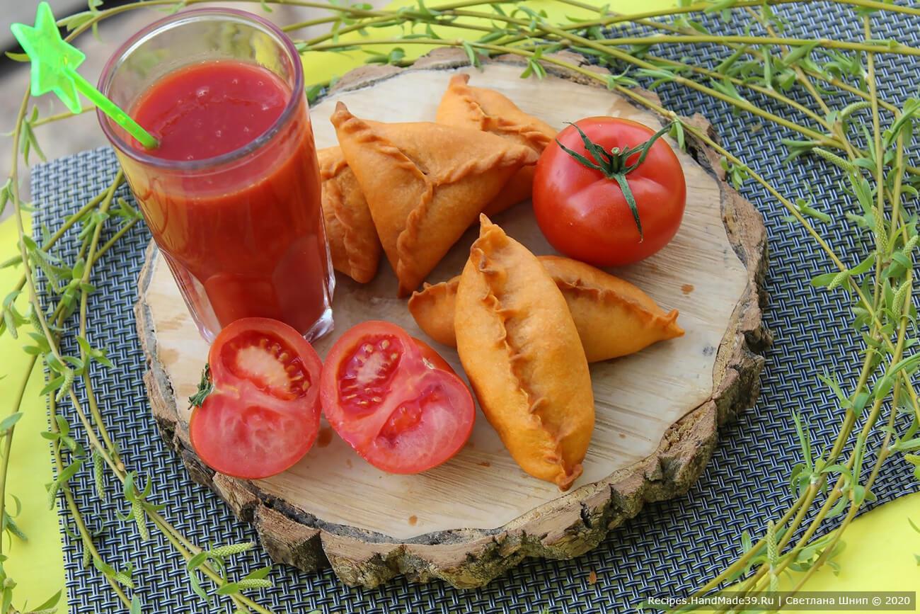Как сделать пирожки из постного теста на томатном соке без дрожжей – пошаговый кулинарный рецепт с фото