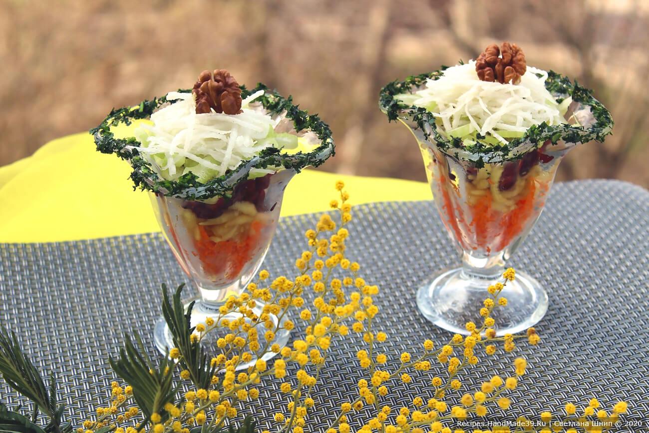 Постный салат «Для милых дам»