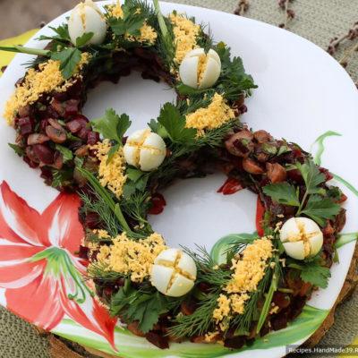 Постный салат с грибами – пошаговый кулинарный рецепт с фото