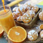 Мраморное апельсиновое печенье «Трещинки»