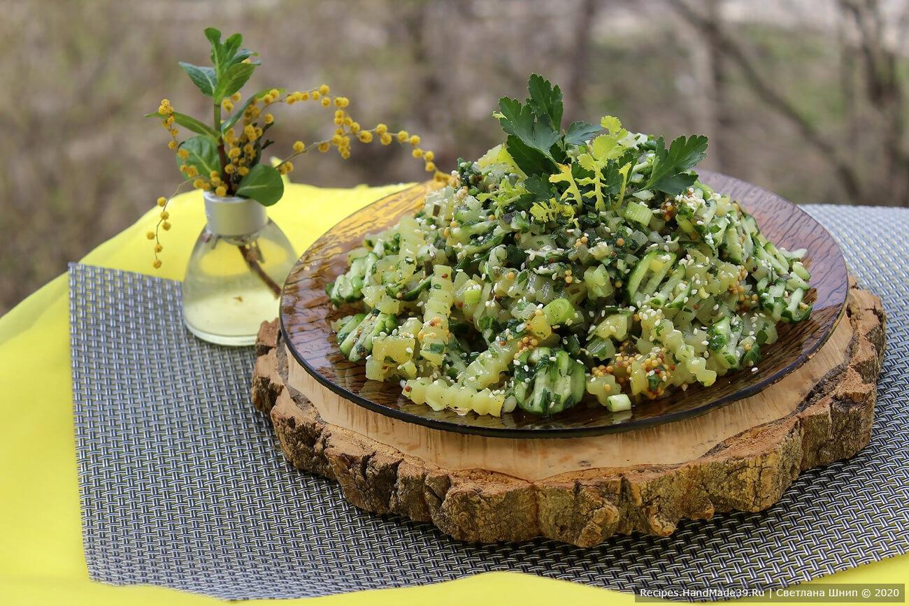 Постный картофельный салат «Монастырский»