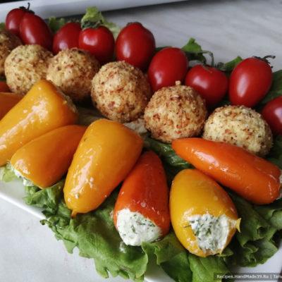 Мини-перцы, фаршированные творожным сыром и маринованные в острой заливке – пошаговый рецепт с фото