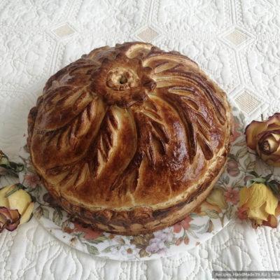 Курник из слоёного теста – пошаговый кулинарный рецепт с фото