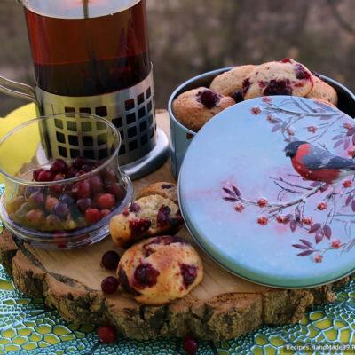 Простое и быстрое печенье с брусникой – пошаговый рецепт с фото