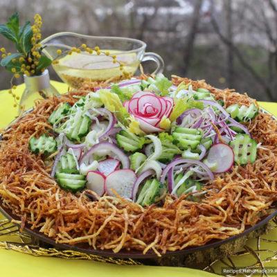 Овощной салат с хрустящим картофелем пай – пошаговый рецепт с фото
